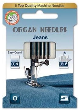 Organ 130/705H - Jeans ECO pack 5 Assorted size