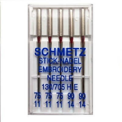 Schmetz Domestic Needles - Embroidery (pack 5 - assorted size)