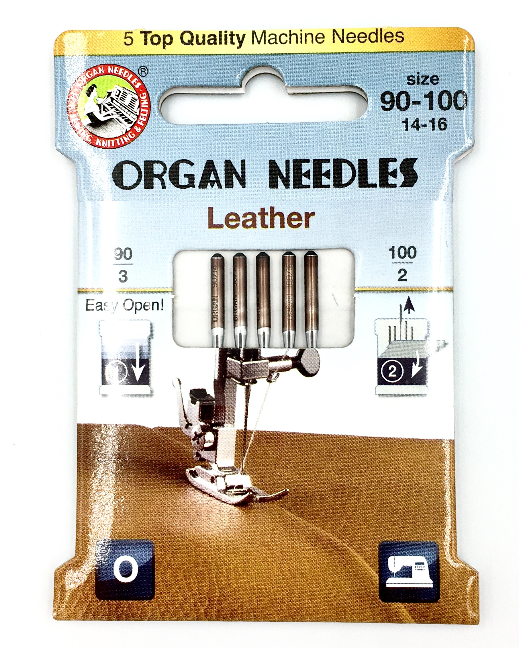 Organ 130/705H - Leather ECO pack 5 Assorted size