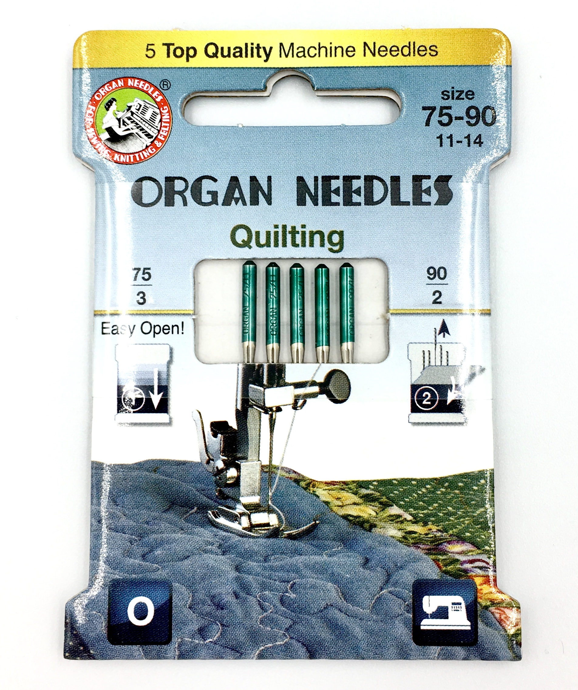 Organ 130/705H - Quilting ECO pack 5 Assorted size